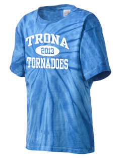 Trona High School Tornadoes Kid's Tie-Dye T-Shirt