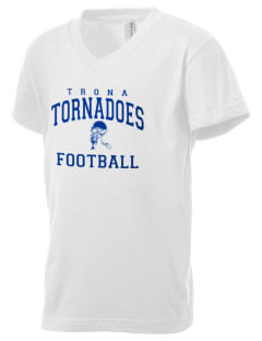 Trona High School Tornadoes Kid's V-Neck Jersey T-Shirt