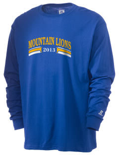 Meridian Elementary School Mountain Lions  Russell Men's Long Sleeve T-Shirt