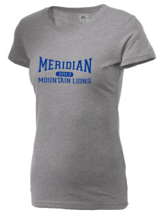 Meridian Elementary School Mountain Lions  Russell Women's Campus T-Shirt