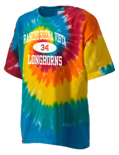Rancho Buena Vista High School Longhorns Kid's Tie-Dye T-Shirt