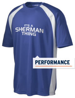Sherman Elementary School Sharks Men's Dry Zone Colorblock T-Shirt