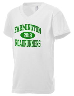 Farmington Elementary School Roadrunners Kid's V-Neck Jersey T-Shirt