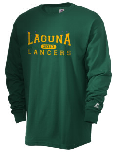 Laguna Middle School Lancers  Russell Men's Long Sleeve T-Shirt