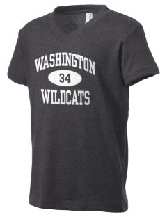 Washington Elementary School Wildcats Kid's V-Neck Jersey T-Shirt