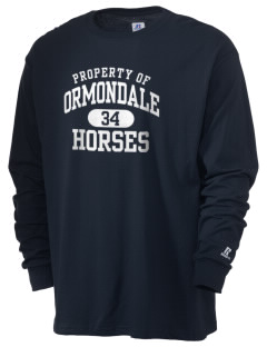 Ormondale Elementary School Horses  Russell Men's Long Sleeve T-Shirt