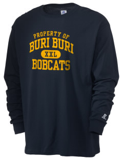 Buri Buri Elementary School Bobcats  Russell Men's Long Sleeve T-Shirt