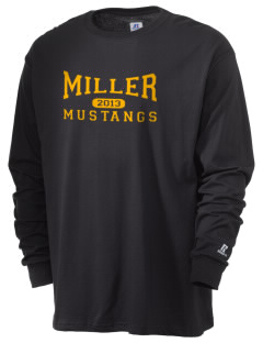 Miller Junior High School Mustangs  Russell Men's Long Sleeve T-Shirt