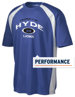 Hyde Junior High School Lions Men's Dry Zone Colorblock T-Shirt