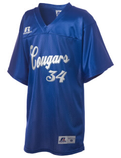 Loyalton Junior High School Cougars Russell Kid's Replica Football Jersey