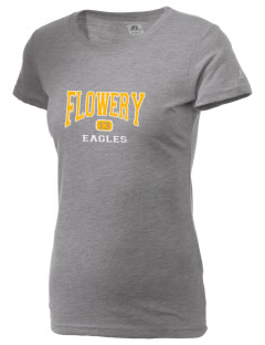 Flowery Elementary School Eagles  Russell Women's Campus T-Shirt