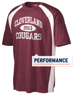 Cloverland Elementary School Cougars Men's Dry Zone Colorblock T-Shirt