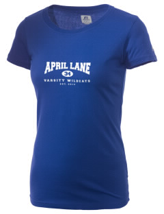 April Lane Elementary School Wildcats  Russell Women's Campus T-Shirt