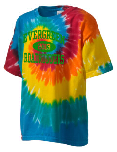 Evergreen Elementary School Roadrunners Kid's Tie-Dye T-Shirt