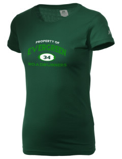 Evergreen Elementary School Roadrunners  Russell Women's Campus T-Shirt