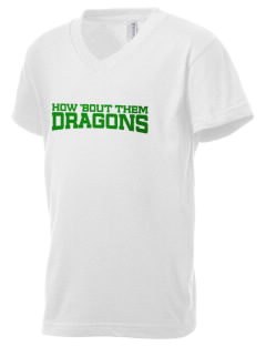 Westmore Oaks Elementary School Dragons Kid's V-Neck Jersey T-Shirt