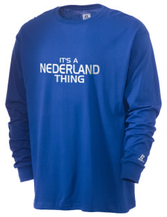 Nederland Elementary School Panthers  Russell Men's Long Sleeve T-Shirt