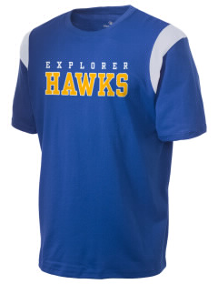 Explorer Elementary School Hawks Holloway Men's Rush T-Shirt