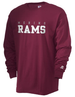 Merino Elementary School Rams  Russell Men's Long Sleeve T-Shirt
