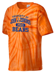 John J Jennings Elementary School Bears Kid's Tie-Dye T-Shirt
