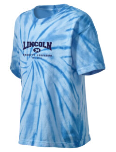 Lincoln Middle School Leopards Kid's Tie-Dye T-Shirt