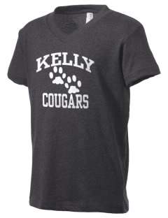 Kelly Middle School Cougars Kid's V-Neck Jersey T-Shirt