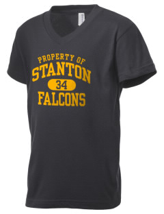 Stanton Middle School Falcons Kid's V-Neck Jersey T-Shirt