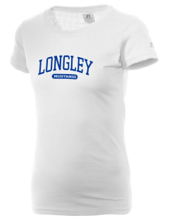 Longley Elementary School Mustangs  Russell Women's Campus T-Shirt