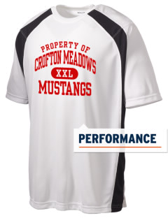 Crofton Meadows Elementary School Mustangs Men's Dry Zone Colorblock T-Shirt