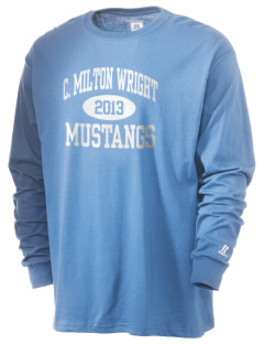 C Milton Wright High School Mustangs  Russell Men's Long Sleeve T-Shirt