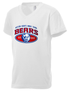 Western Heights Middle School Bears Kid's V-Neck Jersey T-Shirt