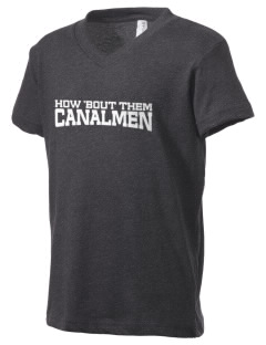 Bourne High School Canalmen Kid's V-Neck Jersey T-Shirt