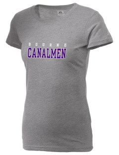 Bourne High School Canalmen  Russell Women's Campus T-Shirt