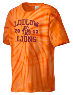 Ludlow Senior High School Lions Kid's Tie-Dye T-Shirt