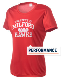 Milford High School Hawks Women's Competitor Performance T-Shirt