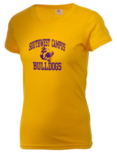 Southwest Community Campus Bulldogs  Russell Women's Campus T-Shirt
