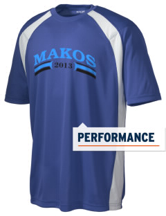 Vista del Mar School Makos Men's Dry Zone Colorblock T-Shirt