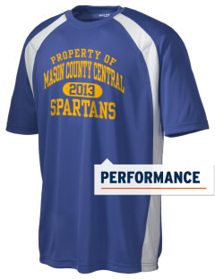 Mason County Central High School Spartans Men's Dry Zone Colorblock T-Shirt