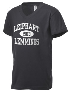 Leiphart Alternative High School Lemmings Kid's V-Neck Jersey T-Shirt