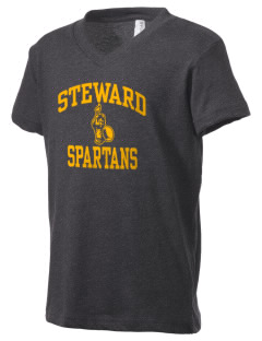 Steward School Spartans Kid's V-Neck Jersey T-Shirt