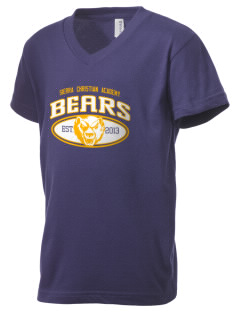 Sierra Christian Academy Bears Kid's V-Neck Jersey T-Shirt