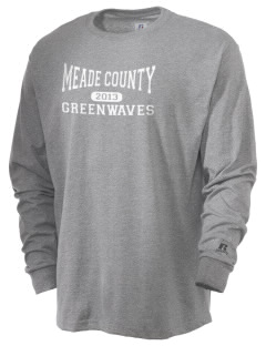 Meade County High School Greenwaves  Russell Men's Long Sleeve T-Shirt
