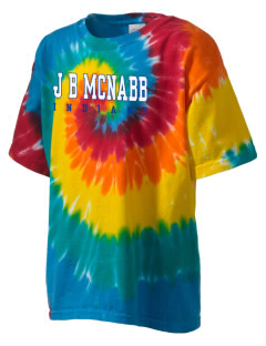 J B McNabb Middle School Indians Kid's Tie-Dye T-Shirt
