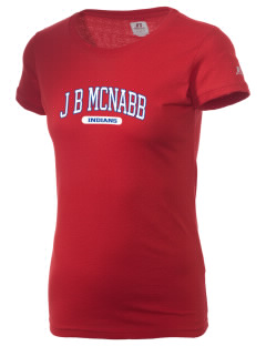 J B McNabb Middle School Indians  Russell Women's Campus T-Shirt