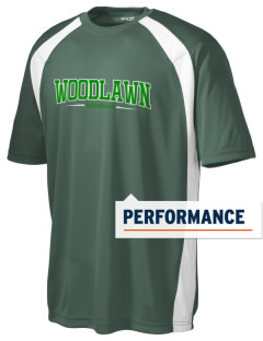 Woodlawn Middle School Warriors Men's Dry Zone Colorblock T-Shirt