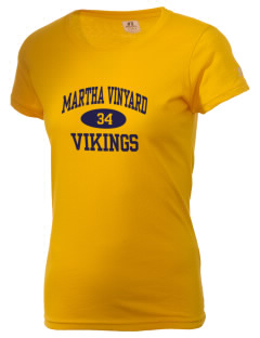 Martha Vinyard Elementary School Vikings  Russell Women's Campus T-Shirt