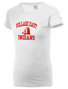 Village East School Indians  Russell Women's Campus T-Shirt