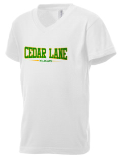 Cedar Lane Elementary School Wildcats Kid's V-Neck Jersey T-Shirt