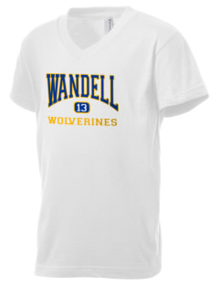 Wandell Elementary School Wallabees Kid's V-Neck Jersey T-Shirt