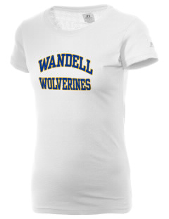 Wandell Elementary School Wallabees  Russell Women's Campus T-Shirt